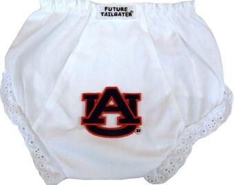 Auburn Tiger Eyelet Baby Diaper Cover