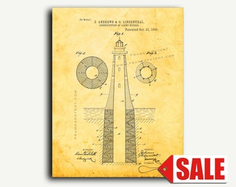 Patent Print - Construction Of Light-Houses Patent Wall Art Poster