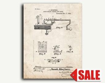 Patent Art - Apple Peeler Cutter and Corer Patent Wall Art Print