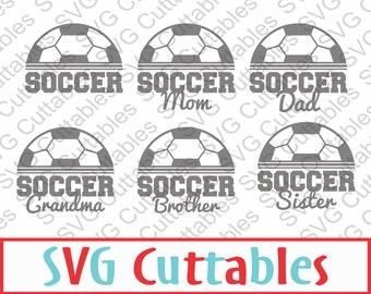 Soccer SVG, DXF, EPS, Soccer Mom Vector, Digital Cut File