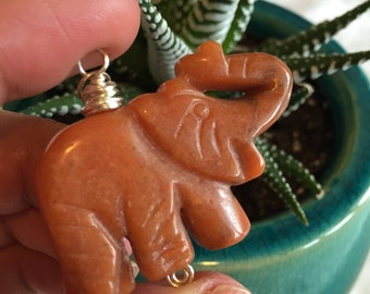 Reiki Infused Elephant necklace