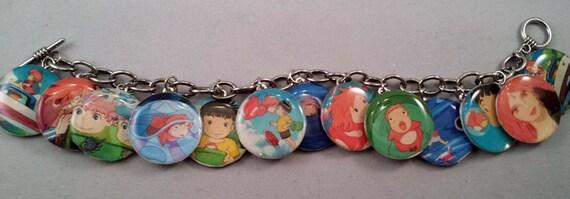 Handmade Ponyo charm bracelet
