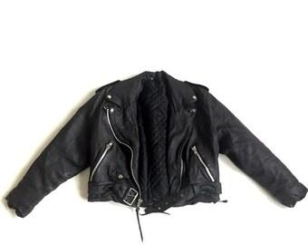 FLASH SALE 20% OFF Vtg Leather motorcycle Jacket- Ladies S