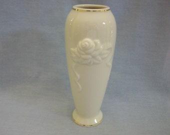 Lenox Rose Blossoms Porcelain Vase