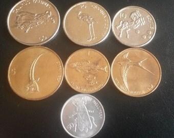 Slovenia 50 20 10 5 2 1  Tolar coins + 50 stotinov