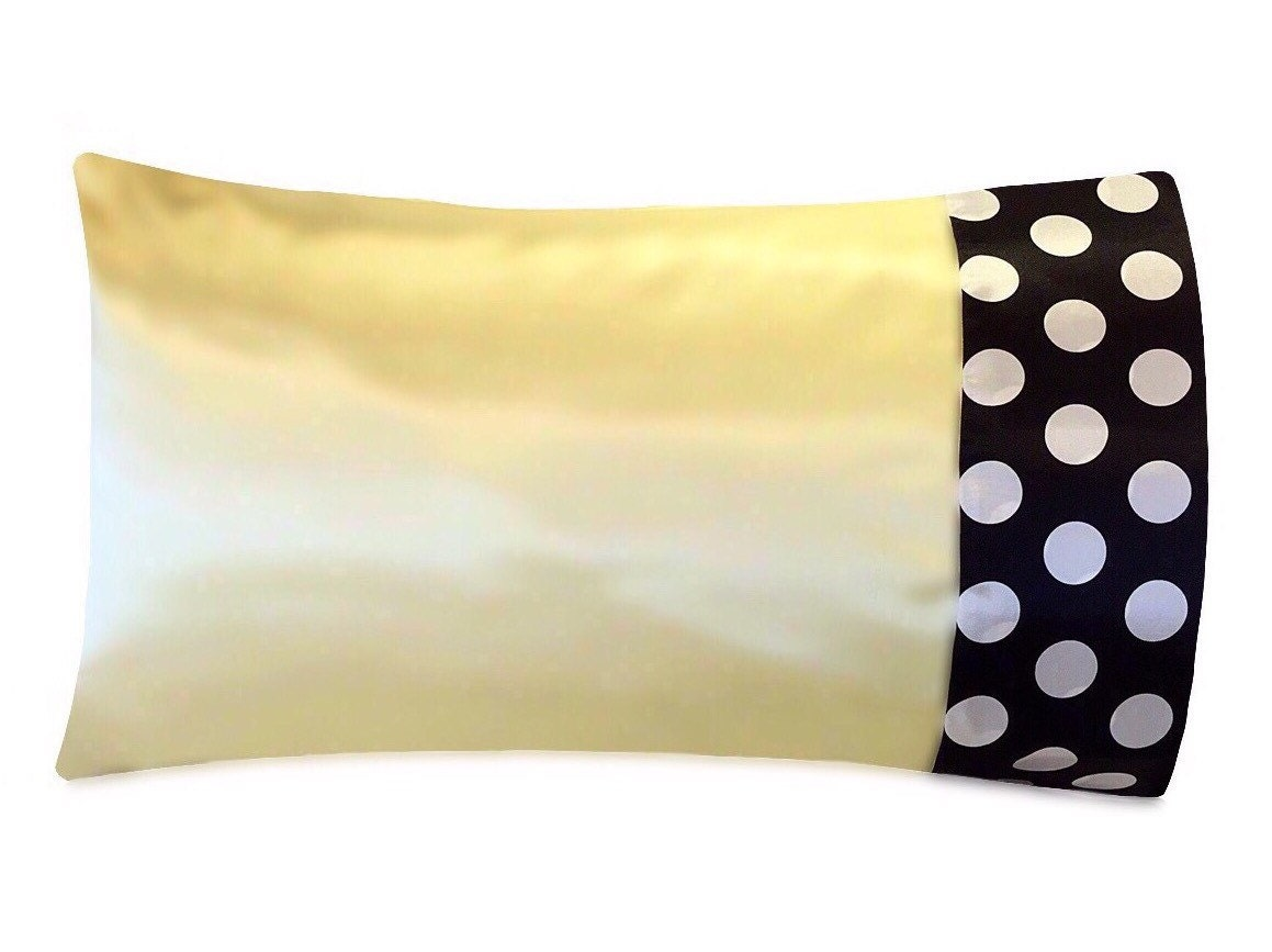 Banana Yellow Satin Pillowcase Pale Yellow Satin Pillow