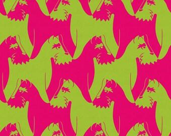 Houndstooth Dog Wallpaper - pink & green