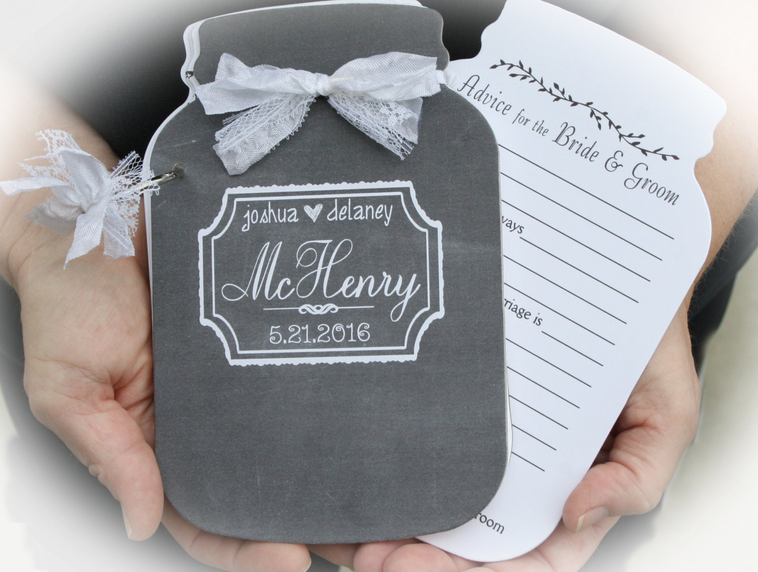 Bridal Shower Decor Personalized Guestbook Date Night