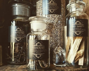 75 Printed Herb Labels for Witches Apothecary jars and bottles ~ Earth Magic ~ HedgeWitch ~ Herbal Alchemy ~ Cabinet of Curiosities