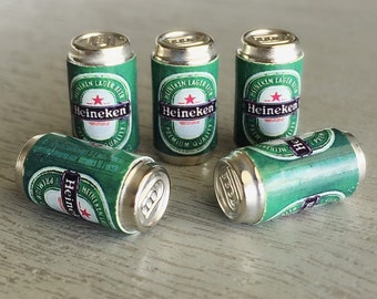 Miniature Beer,Miniature Beer Can,Miniature Alcohol,miniature Cans,miniature jewelry,Beer,Miniature Drink,Dollhouse Beer cans