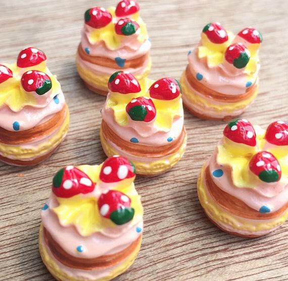 2pcs.14x18mm.Miniature Cabochon Cookie,Miniature Cakes,Cabochons,Resin,Miniature Sweet,Miniature Cabochon,DIY,Mobile case deco