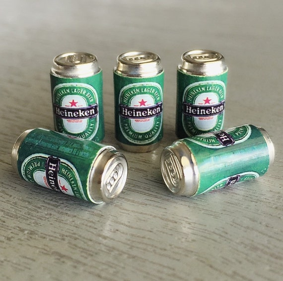 5 pcs.Miniature Beer,Miniature Beer Can,Miniature Alcohol,miniature Cans,miniature jewelry,Beer,Miniature Drink,Dollhouse Beer cans