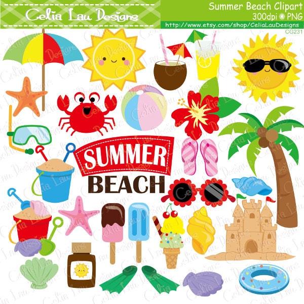 Summer clipart Beach clip art