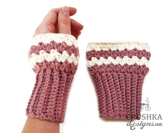 Merino wool crochet hand warmers and boot cuffs set, hand gloves, merino wool wristers, boot cuffs, warm gloves, winter gloves