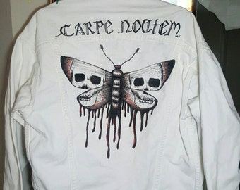 One of a Kind Handpainted Denim Jacket