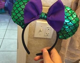 Ariel/ Little mermaid inspired Mickey Ears (Disney)