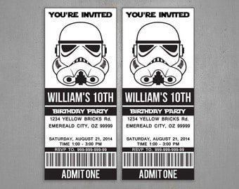 Star Wars birthday Stormtrooper invitation Party Printable - Instant Download Editable PDF
