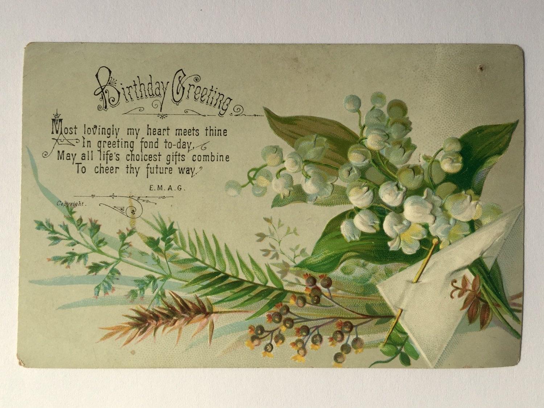 Collection of antique birthday cards c 1870 1890 for Vintage geburtskarten
