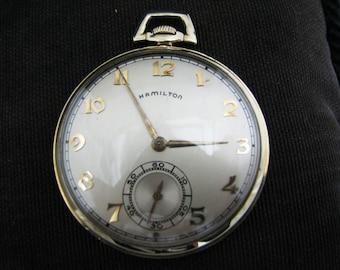 Nice Open Face Hamilton Pocket Watch from 1947