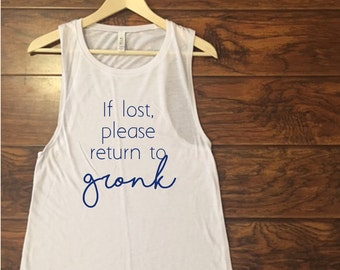 If lost, please return to Gronk Muscle Tank