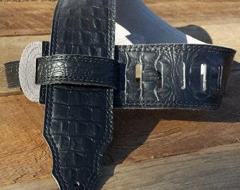 Premium Select Black Gator 3 inch Guitar Strap