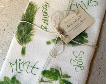 "Herb Tea Towel - 18"" x 22"""