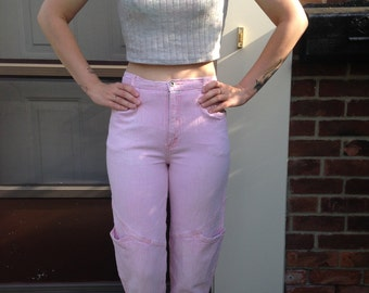 Vintage Brittania Pink High Waisted Stretch Pants