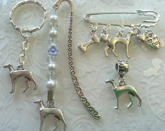 Greyhound gifts~I love my dog~Greyhound bookmark~Greyhound keyring