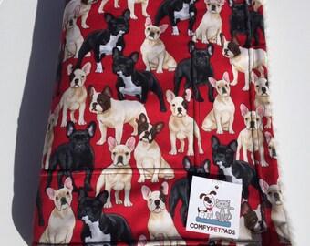 French Bulldog Blanket, Dog Blanket, Puppy Bedding, Crate Bedding, French Bulldog Baby, Dog Throw, Baby Blanket, Nursery Decor