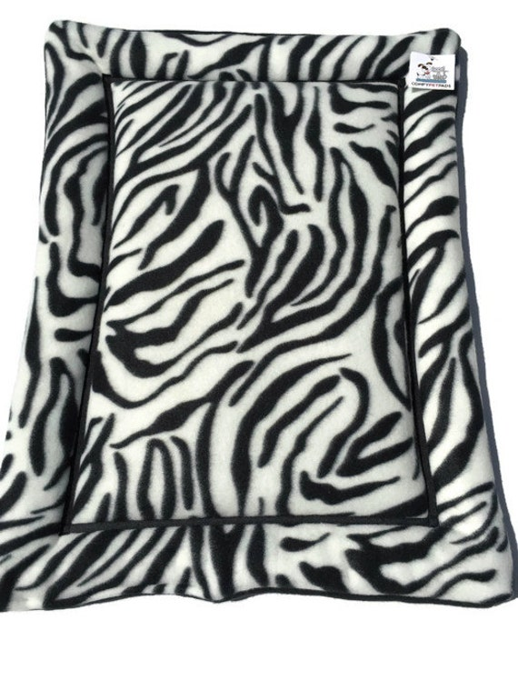 Bed for Cats, Cat Mat,Zebra Pet Bed, Dog Beds, Small Pet Pad, Dog Crate Pad, Small Dog Mat, Kennel Pad, Puppy Bedding, Made in Colorado