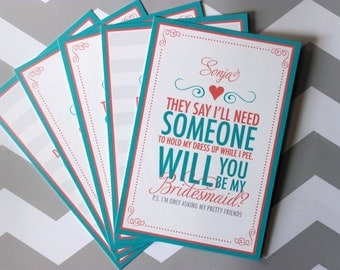 Will You be My Bridesmaid Cards | Mix and Match Bridesmaid Card Set | Bridesmaids Cards