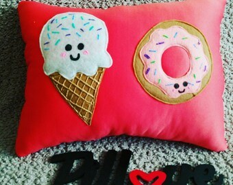Ice Cream and Donut  Pillow