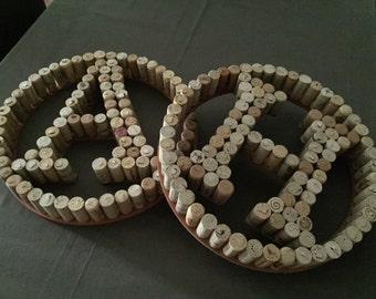 Custom Wine Cork Monogram Letters: Made-To-Order