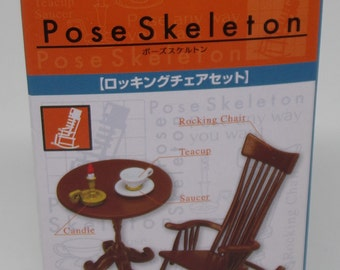 Re-ment Pose Skeleton Rocking Chair and Side Table  Series 1:16 Scale