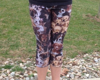 Girl's Puppy Dog Spandex Leggings