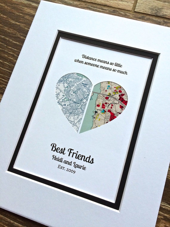 Long distance quote gift christmas gift for best friends Best christmas gift to get your best friend