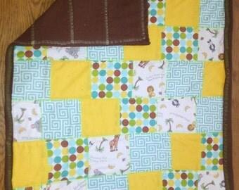 Zoo animal baby quilt