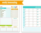 PDF: Weekly Homemaking Pages | Half Size