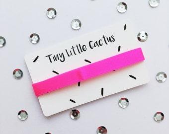 Neon pink (Neon Pink ribbon), satin (Satin), 1 cm wide (wide)