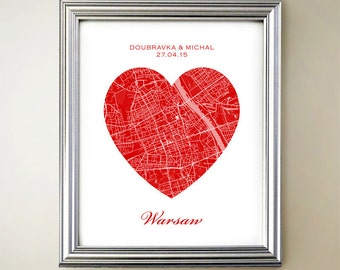 Warsaw Heart Map