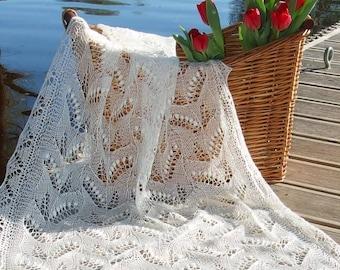Estonian Lace, Haapsalu shawl - Lily-of-Valley
