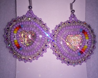 Beaded Earrings-Authentic Native American Made