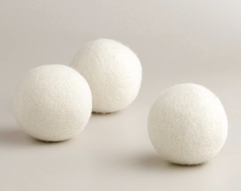 Set of 3 Organic 100% Wool Dryer Balls