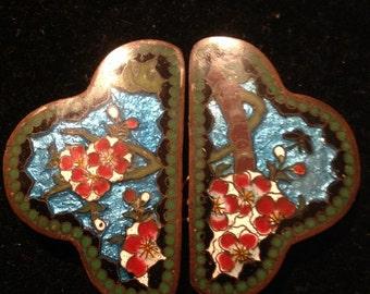 Antique buckle, antique enamel buckle , victorian buckle
