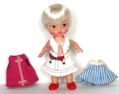 1964 Remco Pocketbook Heidi Sister Hildy Doll - Short Platinum Blond Hair with Bangs - Clothing and Shoes - Excellent Condition