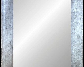 Distressed Silver With Black Edges Framed Wall Mirror 11x14 16x20 24x30