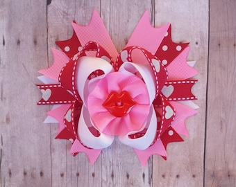 Valentine's Day Mini Over the Top Hair Bow