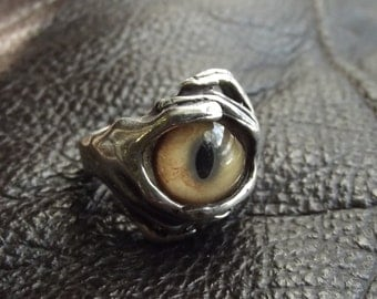 Sterling Silver Eyeball Ring by Randy Davis