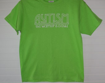 Autism The Warrior is a Child White Youth Shirt Celtic Version