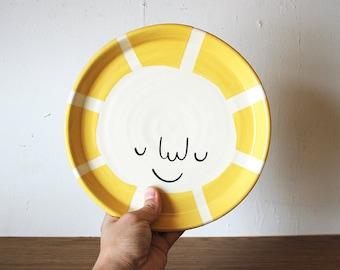 "7.5"" Happy Sun Plate"